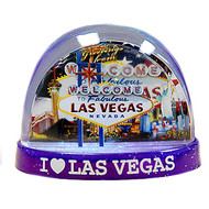Las Vegas LARGE Waterglobe US Flag Design
