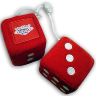 Las Vegas Fuzzy/Fluffy Dice- Red