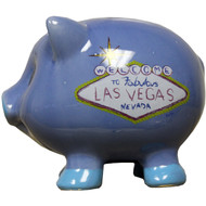 Blue Las Vegas Piggy Bank