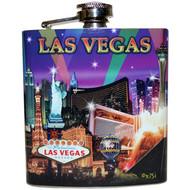 Las Vegas Flask design Purple Spotlights
