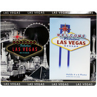 Glass Las Vegas Picture Frame Gray Skyline Design