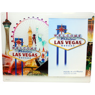 Glass Las Vegas Picture Frame White Skyline Design