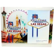 Glass Las Vegas Picture Frame White Skyline Design