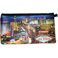 Las Vegas Pencil Case/Cosmetic Purse- LV Strip Design