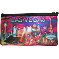 Las Vegas Pencil Case/Cosmetic Purse- Pink Design