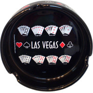 Las Vegas Souvenir Ashtray- Repeating Poker Hand