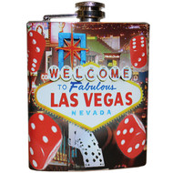 Las Vegas Flask Souvenir Red Dice Design