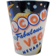 "Las Vegas ""Signage"" Design Shot Glass"