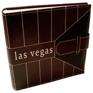Brown Business Embossed Las Vegas Photo Album-200 Photos