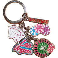 LV Cards & Roulette Dangle Keychain
