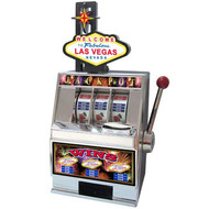 SIGN Las Vegas Slot Machine Coin Bank