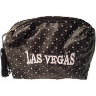 Black Las Vegas Diamond Stars- Cosmetic Bag