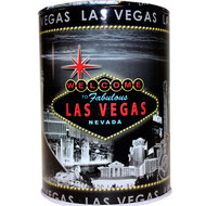 Tin Las Vegas Souvenir Savings Bank- Grey Skyline