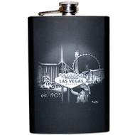 TALL Las Vegas Flask- Black and White Design