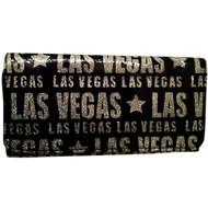 Plastic Las Vegas Wallet Black Glitter