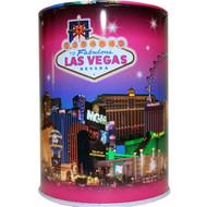 Tin Las Vegas Souvenir Savings Bank- Pink Skyline