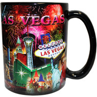 "LV Souvenir Mug ""Embossed Design"" -Fireworks 16oz."