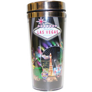 Black Spotlights Stainless Steel Thermal Mug-16oz.