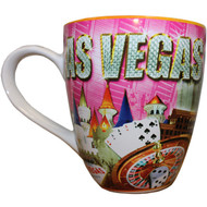 Pink Diamonds Las Vegas Oversized Mug- 18oz.