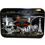 Gray Skyline Las Vegas Playing Cards in a TIN