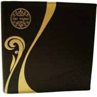 Black with Gold Scroll Las Vegas Photo Album