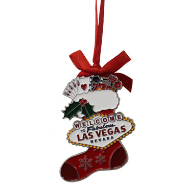 Las Vegas Stocking Metal Christmas Ornament Las Vegas Gift Shoppes