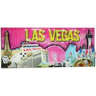 Las Vegas Magnet- Pink Skyline