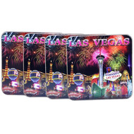 Las Vegas Fireworks Coaster Set of 4