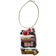 Santa On Slot Machine Souvenir Las Vegas Ornament