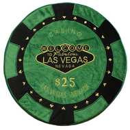 Green - $25 Poker Chip Pillow