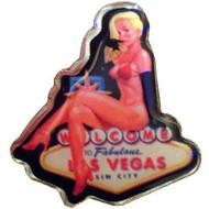 """""""Las Vegas"""" Blond Pinup Pin-Souvenir"""
