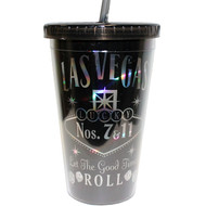 Las Vegas Black Let The Good Times Roll Tumbler
