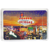 These New Las Vegas Themed Playing Cards come in their own Clear Case.