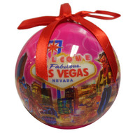 "Pink Las Vegas ""Spark"" Ball Christmas Ornament"