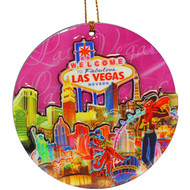 Las Vegas Spark Wood Ornament