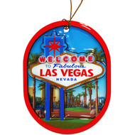 "Oval ""Las Vegas Sign"" Ornament"