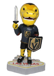 Golden Knight Chance- Bobblehead on the Las Vegas Sign