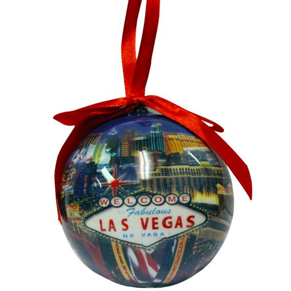 Image 1 - Las Vegas Ball Ornament- STRIP- Las Vegas GIFTS SHOP