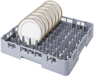 "Camrack® 9 x 9 Peg Rack, full size, 19-3/4"" x 19-3/4"" x 4"", compartment inches 18"" x 18"", 3-1/4"" max. height, soft gray, NSF"