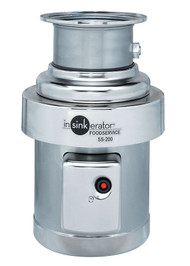 SS-200™ Disposer, basic unit only, 2 HP motor, stainless steel construction, includes mounting gasket, adjustable leg kit