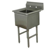 """One Compartment Sink, 18"""" x 24"""" ADVANCE TABCO FE-1-1824-X"""
