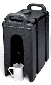 "Camtainer® Beverage Carrier, 2-1/2 gallon, 9""W x 16-1/2""D x 18-3/8""H, insulated plastic, black, NSF"