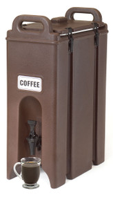 "Camtainer® Beverage Carrier, 4-3/4 gallon, 9""W x 16-1/2""D x 24-1/4""H, insulated plastic, dark brown, NSF"