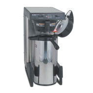39900.0006  WAVE15-APS SmartWave® Low Profile Wide Base Coffee Brewer, automatic, 3.9 gallon/hour cap., black plastic funnel, brews into 1.9L thermal carafe brewer using slide-out booster tray, energy-saver mode, analog switches with red & green LED, (airpot sold separately), adjustable legs, 120v/60/1-ph, 1350w, 11.3 amps, cord attached, UL, NSF