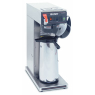 23001.0006  CWTF15-APS Airpot Coffee Brewer, automatic, brews 3.8 gallons per hour capacity, digital circuitry with timer function operated by front panel switches, hot water faucet, plastic funnel, brews into (1) 2.2 or 2.5 liter airpot (sold separately), stainless decor, 120v/60/1-ph, 1370w, 11 amps, NEMA 5-15P