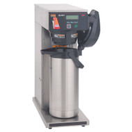 38700.0010  AXIOM®-DV-APS Airpot Coffee Brewer, automatic, dual voltage adaptable, 200 oz. capacity tank, hot water faucet, SplashGard® funnel, programmable controls at front, LCD display, coffee extraction controlled with pre-infusion, pulse brew & digital temperature control, electronic diagnostics, built-in tank drain, energy-saver mode, brews into (1) 1.9 to 3 liter airpot (sold separately), UL, NSF