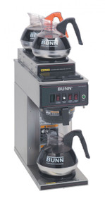 12950.0356  CWT15-3 Coffee Brewer, automatic, with 1 lower and 2 upper warmers, brew 3.8 gallon per hour, pourover feature, stainless funnel, stainless decor, 120v/60/1-ph, 13.9 amps, 1670 watts, cord attached, UL, NSF
