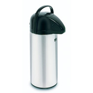 28696.0002  Airpot, 2.2 liter (74 oz.), push-button, glass insulation, stainless steel finish with black trim, 1-pack, ETL