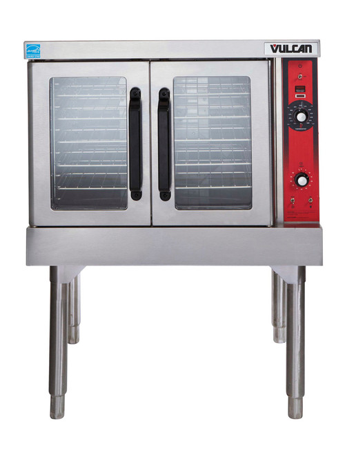 """Convection Oven, gas, 1-deck, standard depth, solid state controls, electronic spark igniter, 25-3/4"""" high legs, stainless steel front, top and sides, stainless steel door with window, 50,000 BTU"""