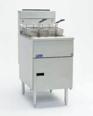 Solstice™ Fryer, gas, floor model, full frypot, 70-90 lb. oil capacity, millivolt control ONLY, stainless steel tank, front, door & sides, 140,000 BTU, NSF, CE, CSA Flame, CSA Star, AuGA (free standing, stand alone only fryer - special price)